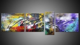 Abstract Art Action Painting HD Video HOW TO Alyssum By