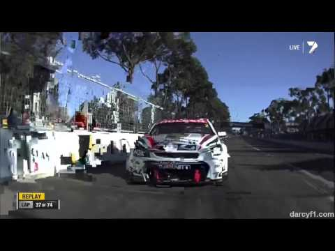 Garth Tander Crash @ 2013 V8 Supercars Sydney Race 1