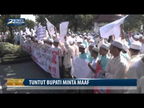 Ribuan Santri Tuntut Bupati Banjar Minta Maaf