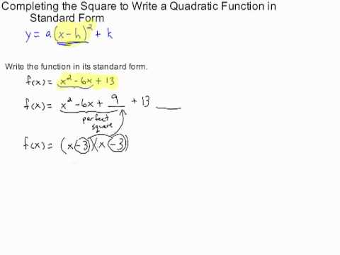 write the quadratic function in standard form Chapter 4 notes packet on quadratic functions and write a quadratic function in vertex form for the write a quadratic function in standard form for the.