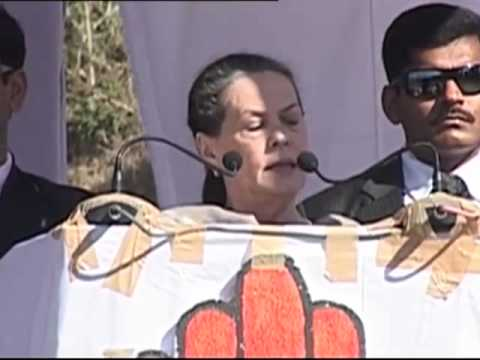 Highlights of Smt Sonia Gandhi's speech at a public rally in Almora, Uttarakhand : Jan 21, 2012
