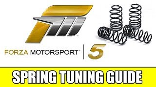 Forza 5 Tuning Guide Suspension Springs