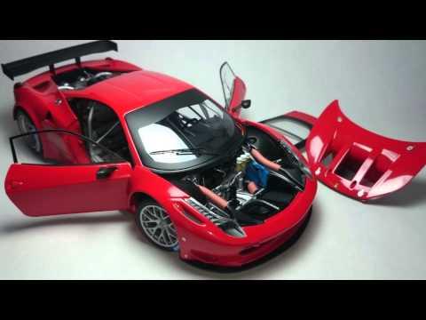 Ferrari 458 Italia GT2 Hotwheels Elite 1:18