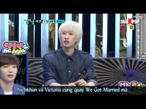 [Vietsub] 110726 Strong Heart E88 Taecyeon & Krystal CUT.mkv