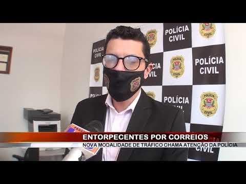 26/06/2020 - Polícia Civil de Barretos identifica crime de tráfico de drogas via Correios