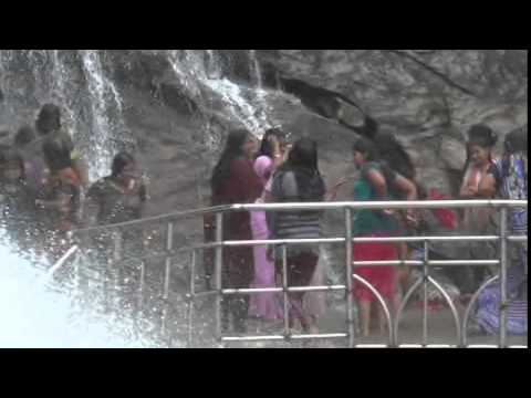 Great flow of Water in Courtallam Season