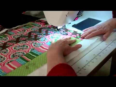 6 Jelly Roll Race Quilt Quilting The Quilt Youtube