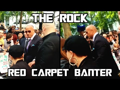 MEETING THE ROCK Part 2: The Finale... Red Carpet Banter