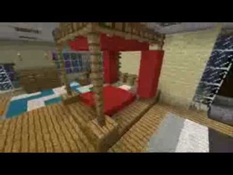 minecraft interior design four poster bed youtube