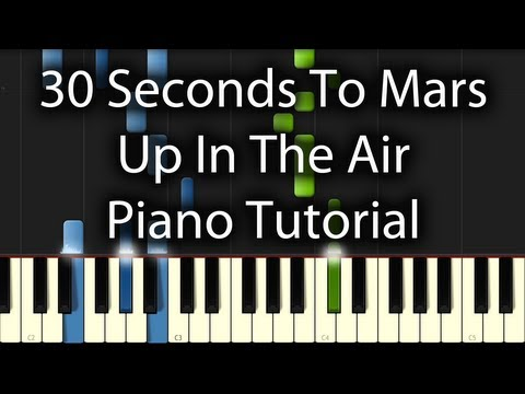 30 Seconds to Mars - Up In the Air Tutorial (How to Play on Piano)