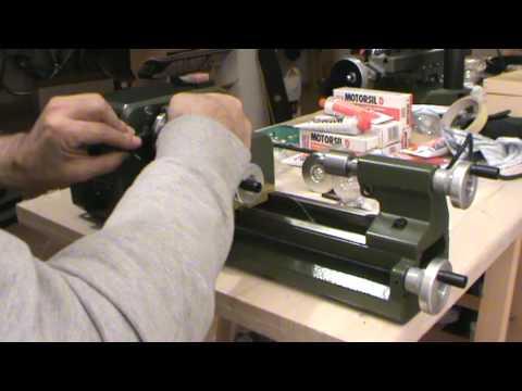 Proxxon pd 230 e youtube for Mini tornio proxxon