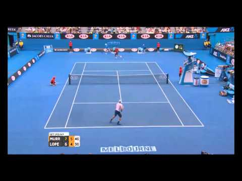 Australian Open Tennis Championships 2014 Highlights   Andy Murray and Feliciano Lopez