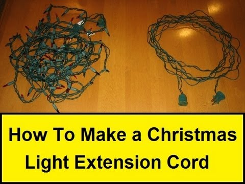 how to make a christmas light extension cord youtube. Black Bedroom Furniture Sets. Home Design Ideas