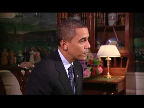 Student Reporter Damon Weaver Interviews President Barack Obama
