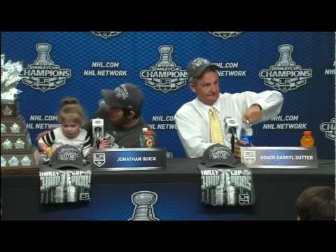 Jonathan Quick, Darryl Sutter post-game 6 presser 6/11/12