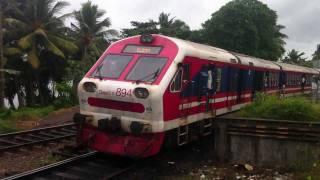 Sri Lanka Railway - S11 India Power Set on Kaluthara South - YouTube