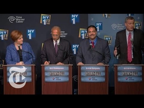 Rivals Target Bill de Blasio in New York Mayoral Debate