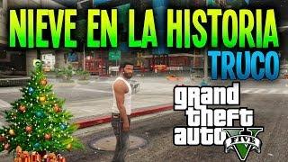 """GTA V NUEVO TRUCO / GLITCH """" NIEVE EN LA HISTORIA DE GTA"""