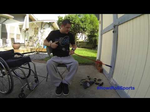 Core Exercises- Adaptive Therapeutic Wheelchair Resistance Bands by How iRoll Sports™
