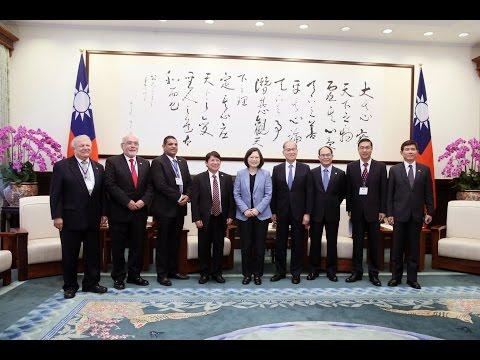 President Tsai meets Nicaraguan Foreign Minister Denis Moncada