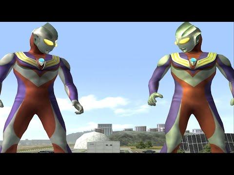 Sieu Nhan Game Play   Ultraman tiga và Ultraman tiga đấu với quái vật