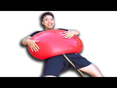 NTN - Thử Bơm Nước Vào Quả Bóng Bay Khổng Lồ ( Water Balloon Big )