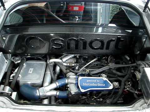 smart brabus roadster v6 biturbo engine youtube. Black Bedroom Furniture Sets. Home Design Ideas