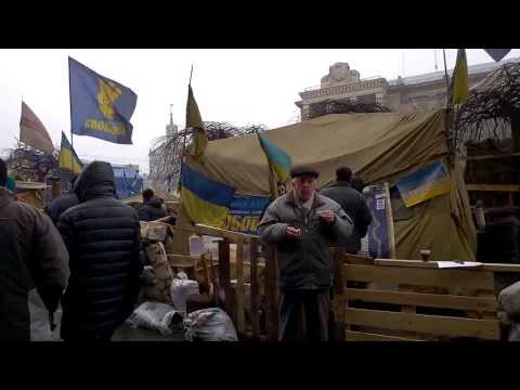 2.5 minutes at the maidan protest in Kiev 9th Feb 2014