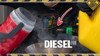 Testing Diesel in Liquid Nitrogen