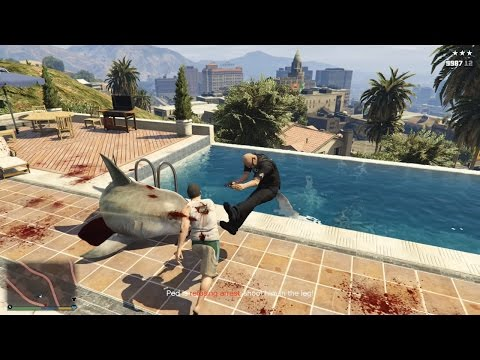 GTA 5 - Bắt Cóc Người Ta Cho Cá Mập Ăn Thịt =))