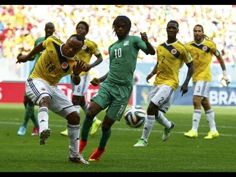 Zuniga skill against Gervinho - Colombia VS Ivory Coast 2014 World Cup (HD)