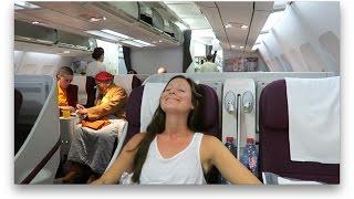 QATAR AIRWAYS BUSINESS CLASS | Kathmandu to Doha (+Al Mourjan Business Lounge)