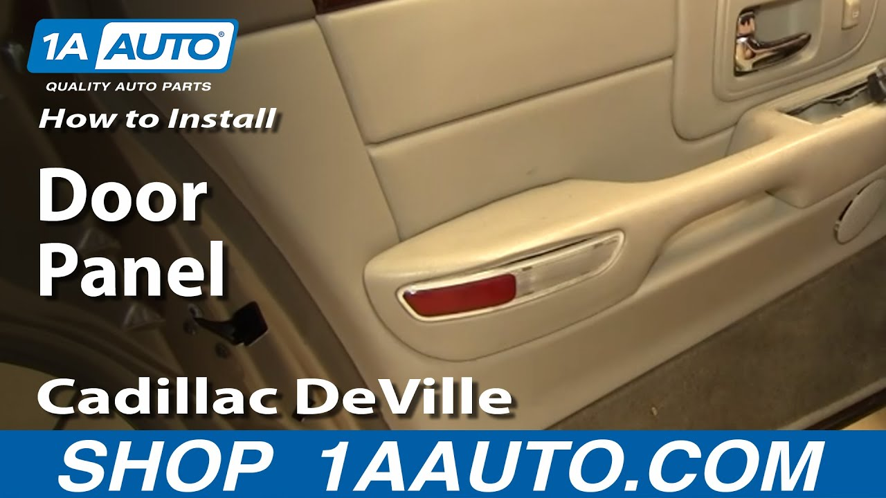 How to install replace rear door panel cadillac deville 97 for 2003 cadillac deville window regulator