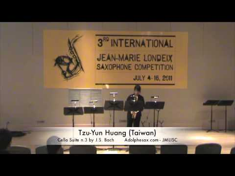 3rd JMLISC: Tzu-Yun Huang (Taiwan) Cello Suite n.3 by J. S. Bach