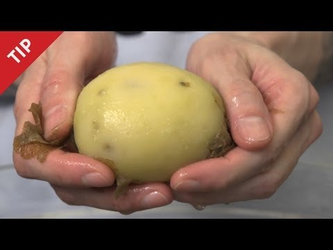 How to Peel a Potato with Your Bare Hands - CHOW Tip
