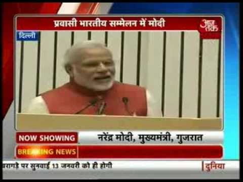 Modi addresses NRIs at Pravasi Bharatiya Divas