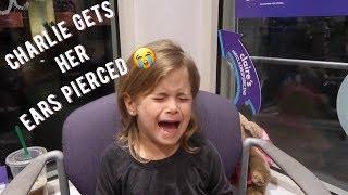 CHARLIE GETS HER EARS PIERCED!!