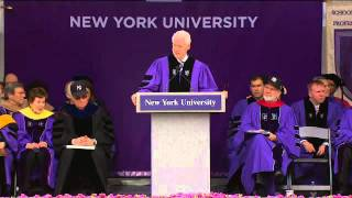 President William J. Clinton's Speech to Graduates at NYU's 2011 Commencement