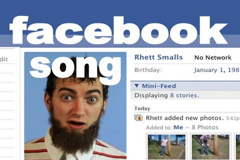 Facebook Song - Rhett &amp; Link, Like us! http://facebook.com/rhettandlink MP3, Chords, and Lyrics: ----------------- Get this song on our 27-song CD (with poster, guitar chords and lyrics):...