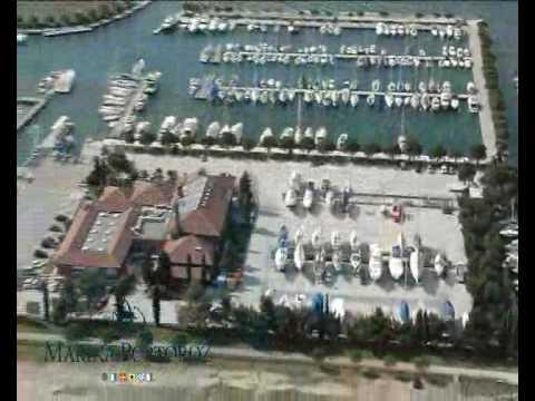 Berths in sea and docks of Marina Portorose, Slovenia