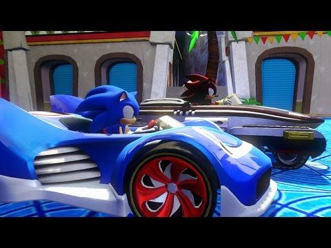 GAME VUI | Game Đua Xe Sonic vui nhộn | Sonic All Stars Racing