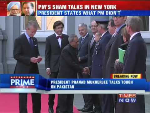 President Pranab Mukherjee Talks Tough