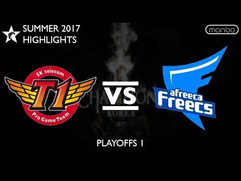SKT vs AFS All Games Highlights LCK Summer 2017 SK Telecom T1 vs Afreeca Freecs LoL eSports