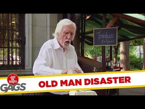 Epic Old Man - Lighter Fluid Disaster Prank!