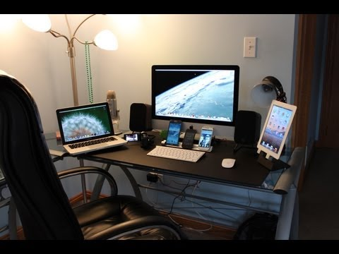 Ultimate Tech Bedroom/ Desk Tour | Gaming Setup | Desk Setup 2013 | Entrainment System