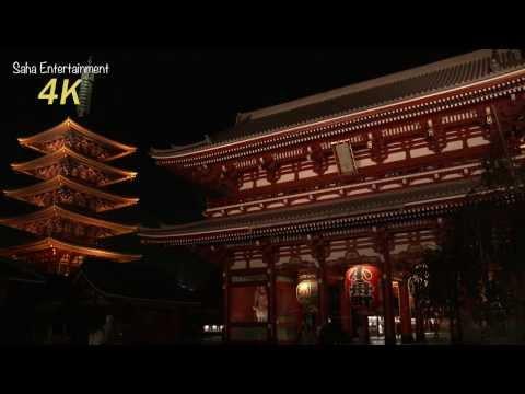 4K camcorder SONY PXW-Z100 Asakusa Senso-ji in lights from TOKYO JAPAN