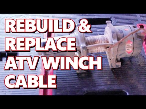 Rebuild XL 3000 WARN Winch:  Rebuild & Replace Steel Winch Cable