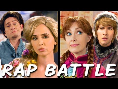 RAPUNZEL vs ANNA: Princess Rap Battle (Eliza Dushku James Maslow Tom Lenk Whitney Avalon) *explicit*