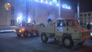 القوات المسلحة تقوم بتطهير ميدان العتبة والحسين وميدان الأوبرا