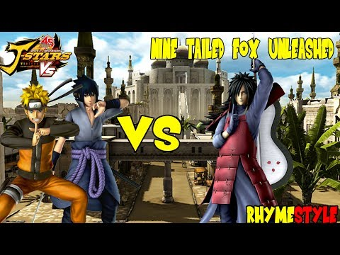 J-Stars Victory VS - Nine Tailed Fox Unleashed (Naruto & Sasuke vs Madara Uchiha)